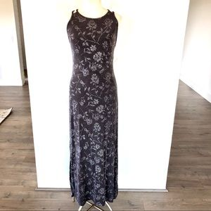 Vintage Purple Gray silver floral Sparkle Dress